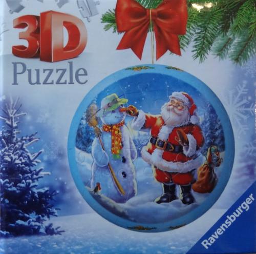 Santa's Snowman Christmas Ornament 3D Puzzle