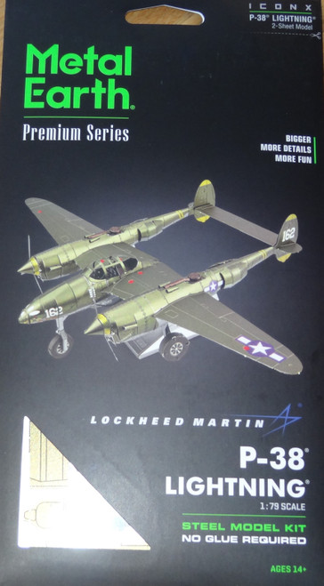 P-38 Lightning ICONX 3D Metal Model Kit