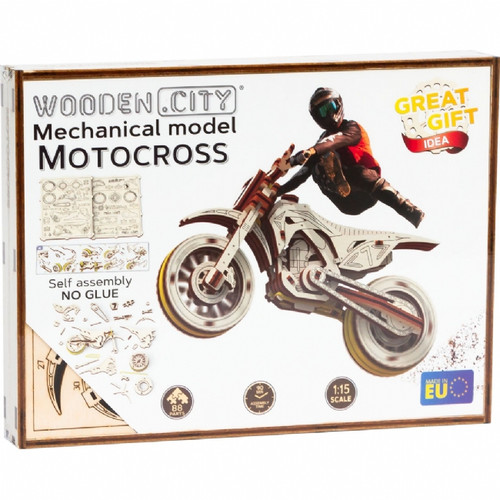 Motocross Motorcycle Wooden City