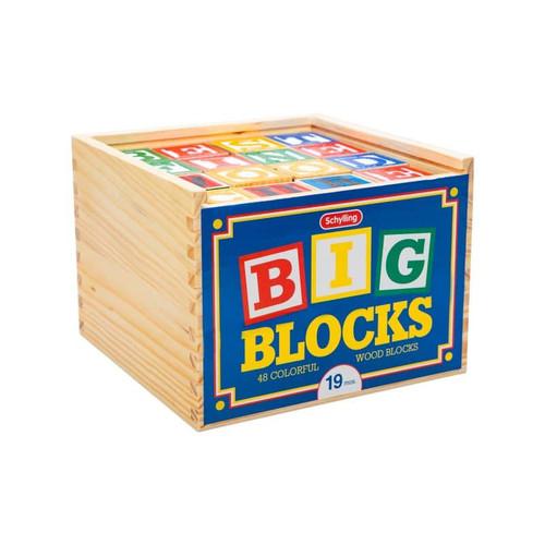 Large ABC Alphabet Wooden Blocks