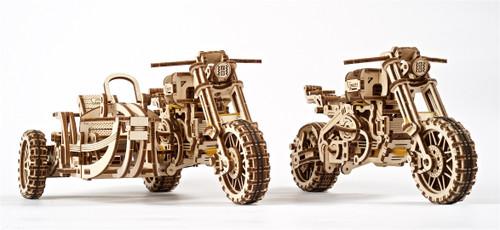Scrambler UGR-10 with Sidecar Motorcycle UGEARS