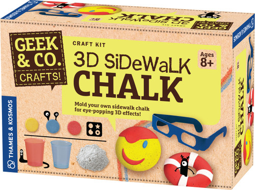 3D Sidewalk Chalk Geek & Co. Crafts!