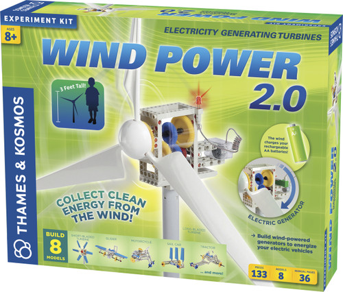 Wind Power 2.0 Electricity Generating Turbines Experiment Kit