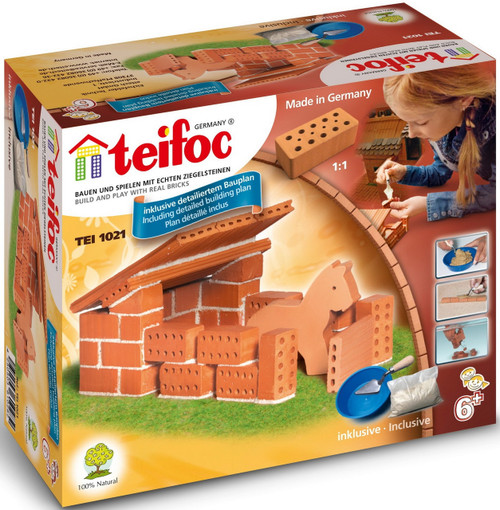 Horse Stable Teifoc Brick & Mortar  Building Kit