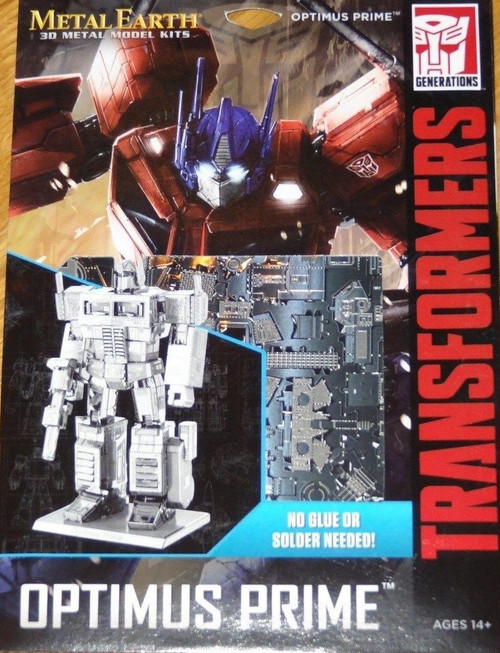 Optimus Prime Transformers Metal Earth