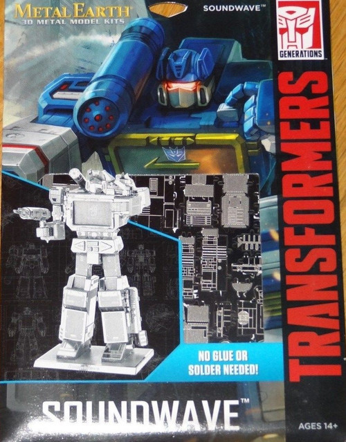 Soundwave Transformers Metal Earth