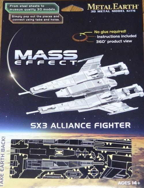 SX3 Alliance Fighter Mass Effect Metal Earth