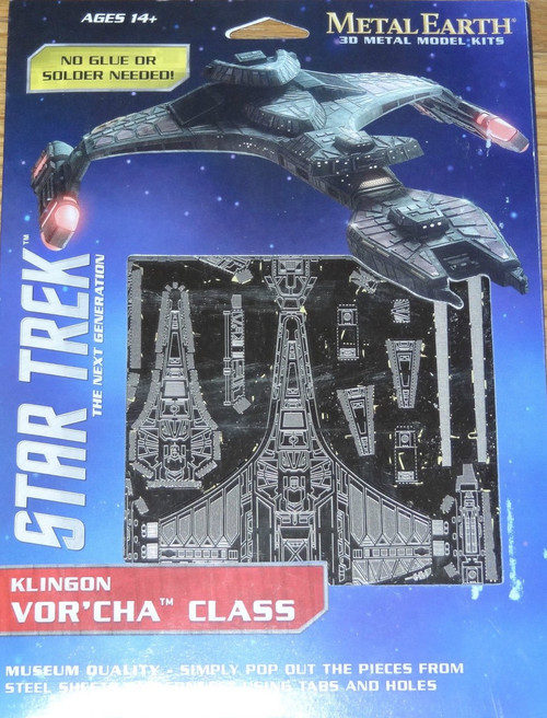 Klingon Vor'Cha Class Star Trek Metal Earth