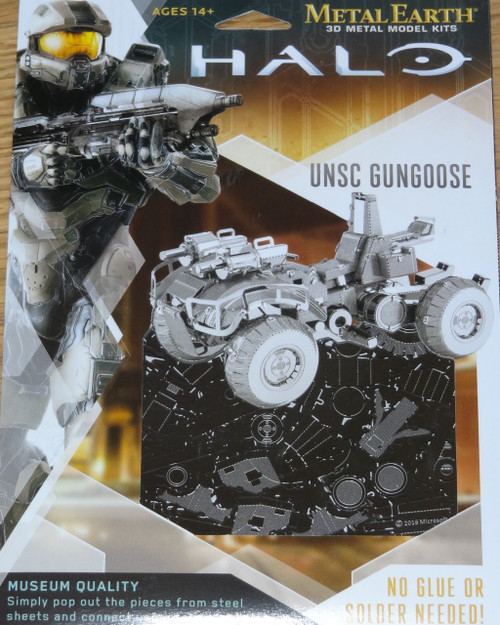 UNSC Gungoose Halo Metal Earth
