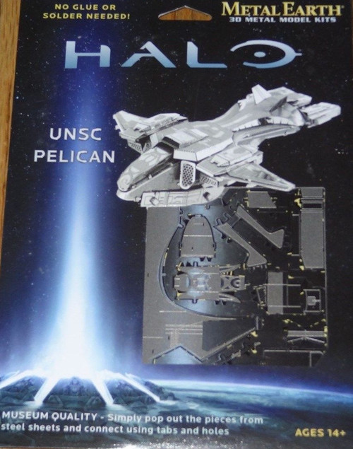 UNSC Pelican Halo Metal Earth