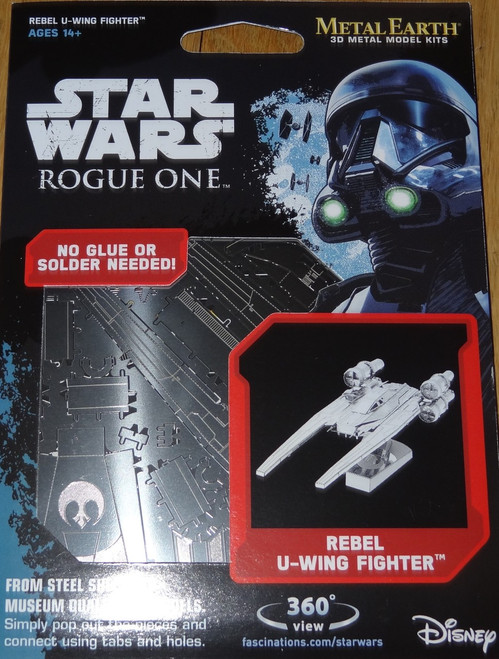 Rebel U-Wing Fighter Rogue One Star Wars Metal Earth