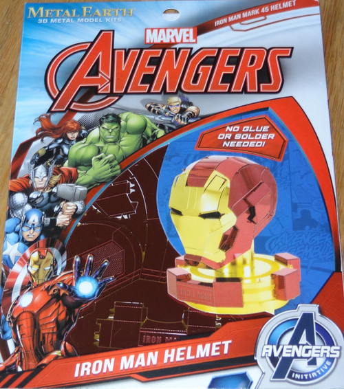 Iron Man Helmet Marvel Avengers Metal Earth