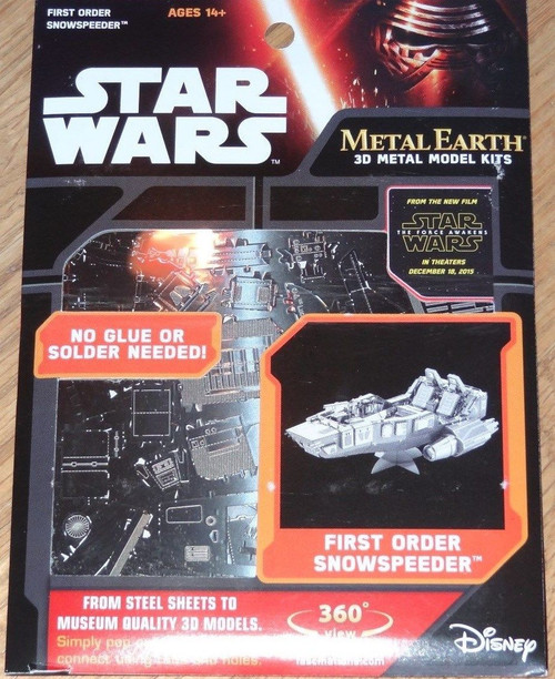 First Order Snowspeeder The Force Awakens Star Wars Metal Earth