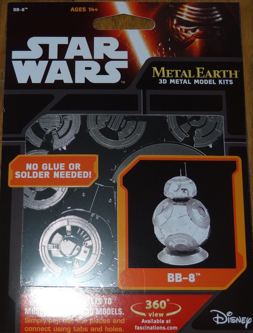 BB-8 The Force Awakens Star Wars Metal Earth
