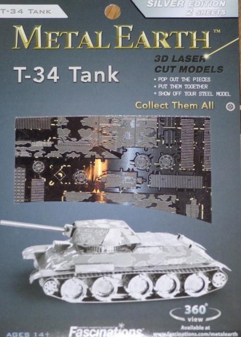 T-34 Tank Metal Earth