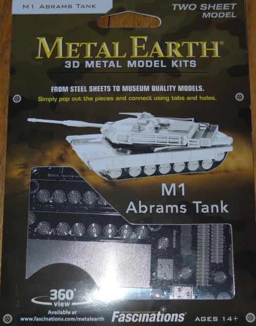 M1 Abrams Tank Metal Earth