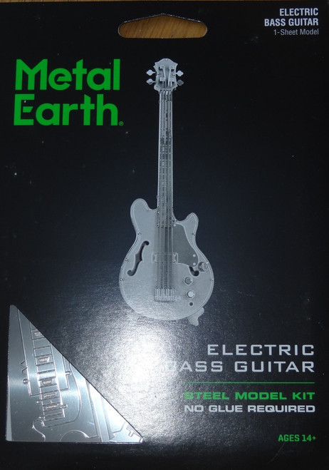Electric Bass Guitar Musical Instrument Metal Earth