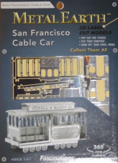 San Francisco Cable Car Metal Earth