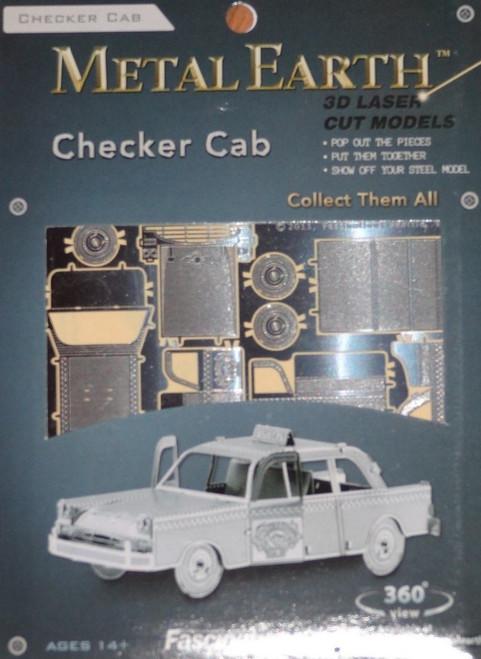 Checker Cab Taxi Metal Earth
