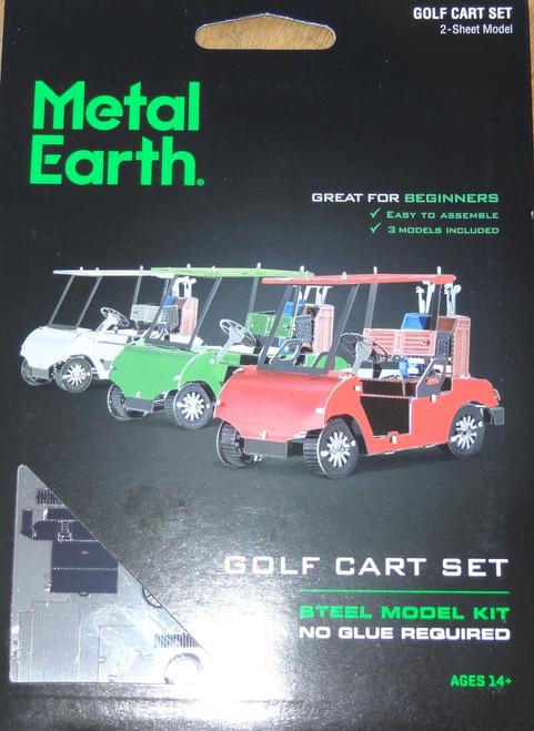 Golf Cart Set Metal Earth