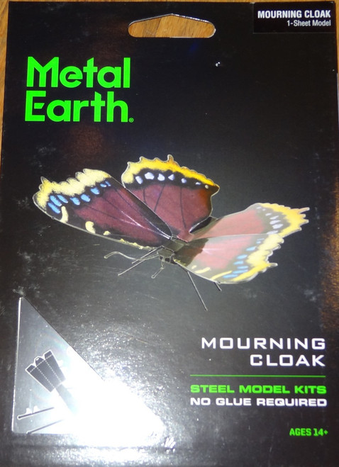Mourning Cloak Butterfly Metal Earth