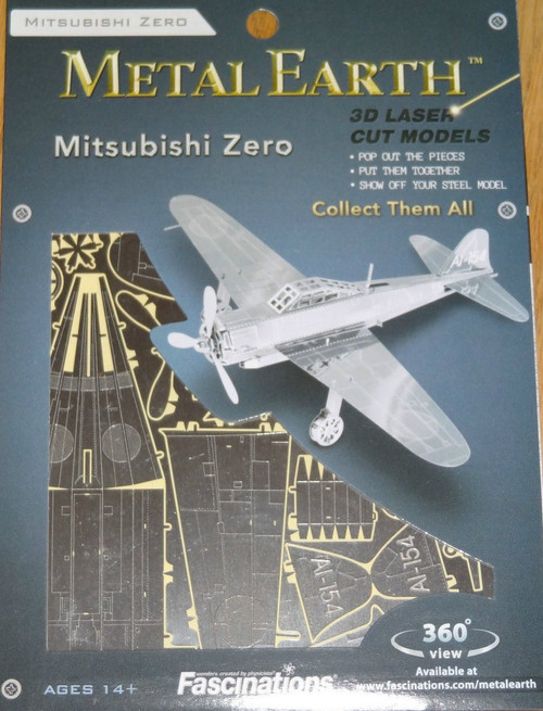 Mitsubishi Zero Plane Metal Earth