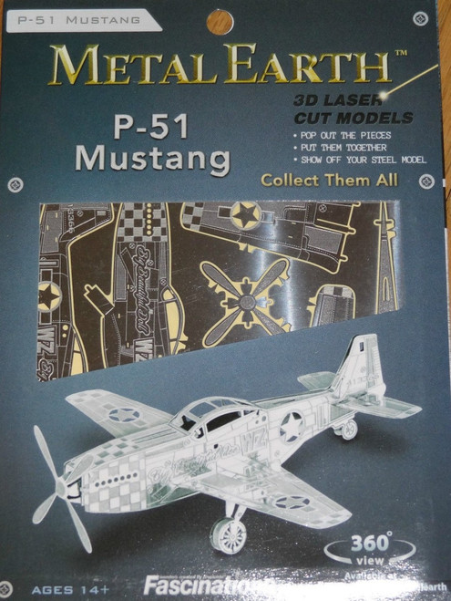 P-51 Mustang Airplane Metal Earth