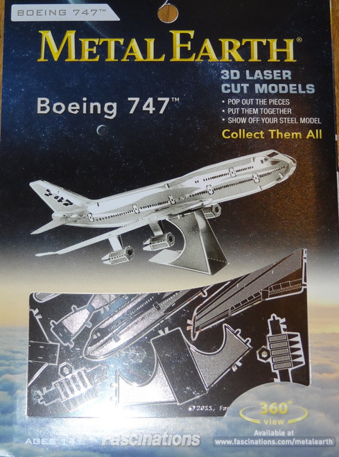 Boeing 747 Jet Airplane Metal Earth