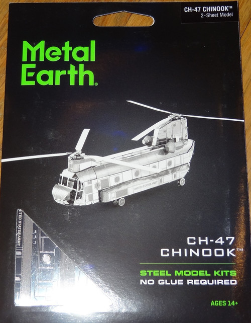 CH-47 Chinook Helicopter Metal Earth