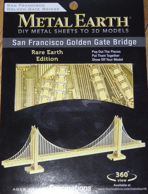 Gold Golden Gate Bridge Metal Earth