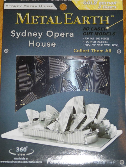 Sydney Opera House Metal Earth