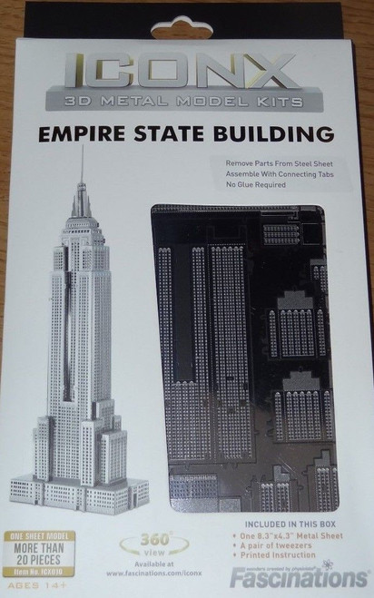 Empire State Building ICONX 3D Metal Model Kit