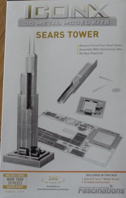 Sears Tower ICONX 3D Metal Model Kit