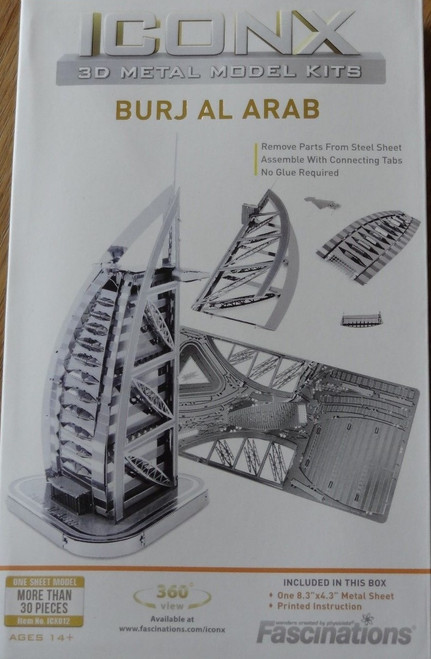 Burj al Arab ICONX 3D Metal Model Kit