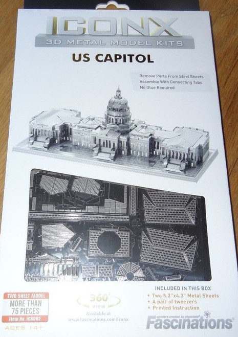 US Capitol ICONX 3D Metal Model Kit