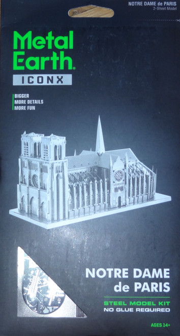 Notre Dame ICONX 3D Metal Model Kit