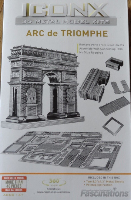 Arc De Triomphe ICONX 3D Metal Model Kit