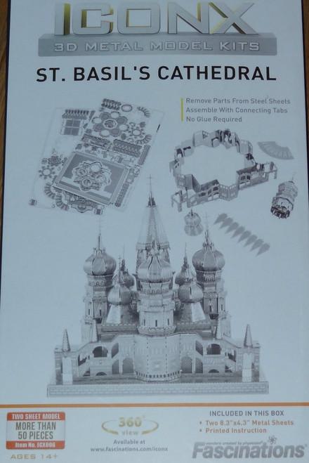 Saint Basil's Cathedral ICONX 3D Metal Model Kit