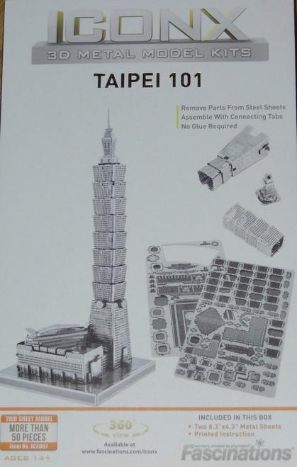 Taipei 101 ICONX 3D Metal Model Kit