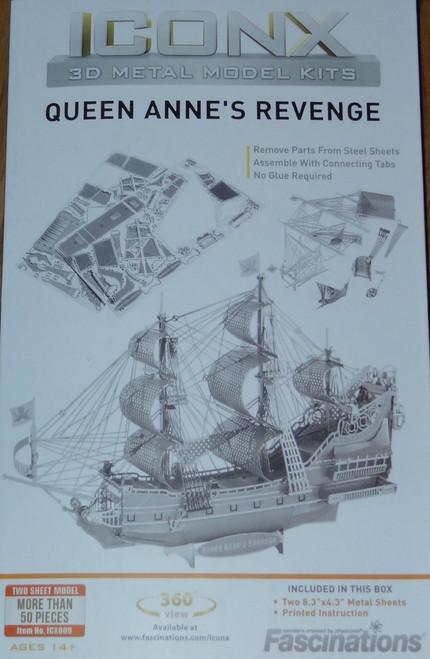Queen Anne's Revenge ICONX 3D Metal Model Kit