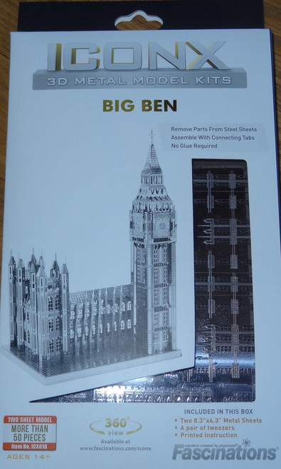 Big Ben ICONX 3D Metal Model Kit