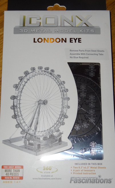 London Eye ICONX 3D Metal Model Kit