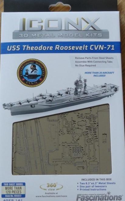 USS Theodore Roosevelt CVN-71 ICONX 3D Metal Model Kit
