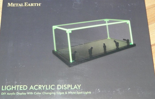 Lighted Acrylic Display Metal Earth