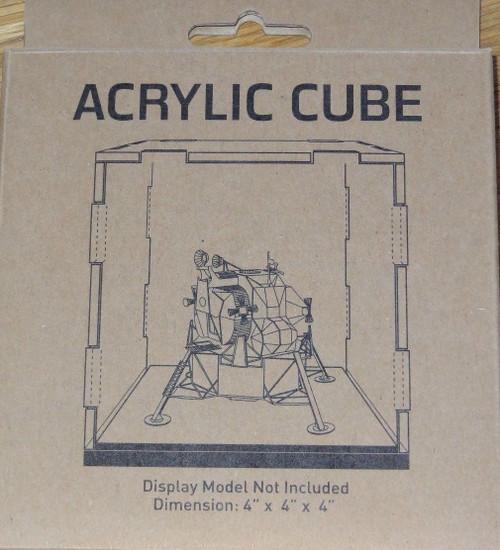 """Acrylic Display Cube 4""""x4""""x4"""" Metal Earth"""