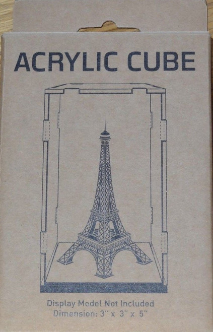 "Acrylic Display Cube 3""x3""x5"" Metal Earth"
