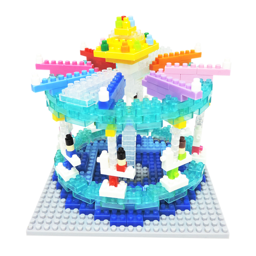 Merry-Go-Round Amusement Ride TICO Mini Building Bricks