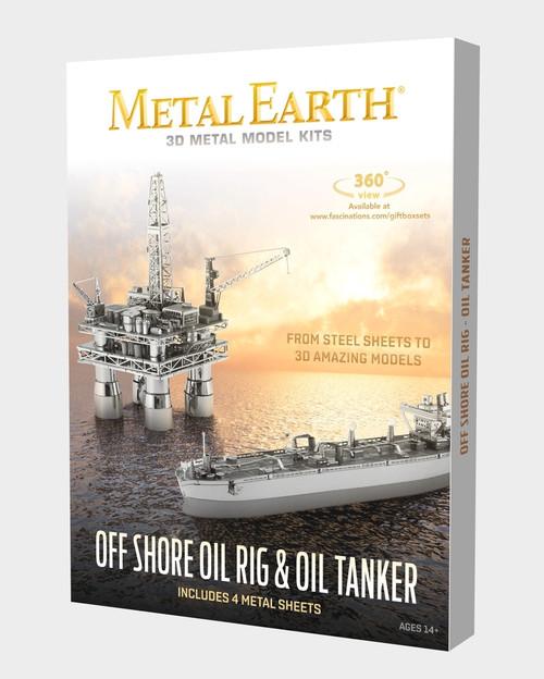 Off Shore Oil Rig & Oil Tanker Set Metal Earth