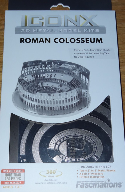 Roman Colosseum ICONX 3D Metal Model Kit