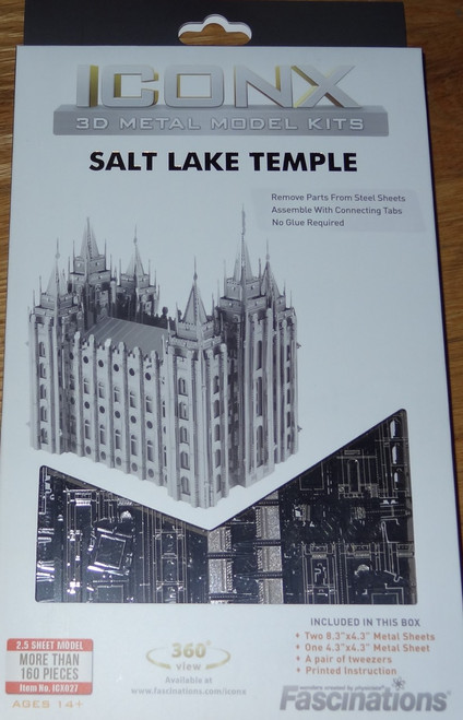 Salt Lake Temple ICONX 3D Metal Model Kit